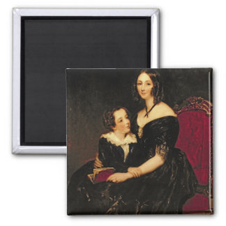 Portrait of Eliza Boardman and her son, Robert, 18 Square Magnet