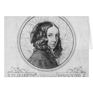 Portrait of Elizabeth Barrett Browning Card