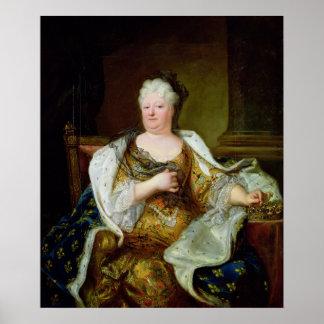 Portrait of Elizabeth Charlotte of Bavaria Poster