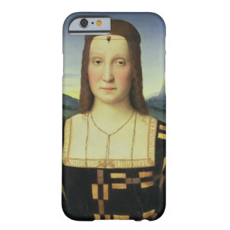 Portrait of Elizabeth Gonzaga, c.1504 (oil on pane Barely There iPhone 6 Case
