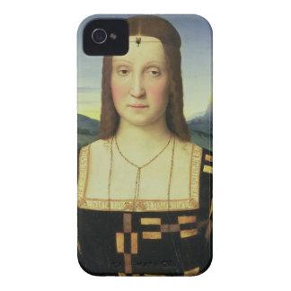 Portrait of Elizabeth Gonzaga, c.1504 (oil on pane iPhone 4 Case-Mate Case