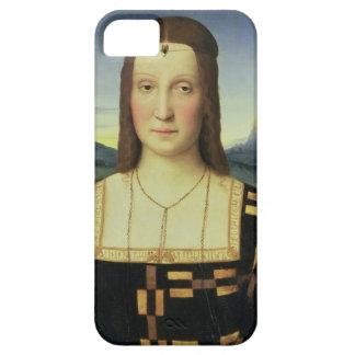Portrait of Elizabeth Gonzaga, c.1504 (oil on pane iPhone 5 Cases
