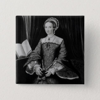 Portrait of Elizabeth I when Princess  c.1546 15 Cm Square Badge