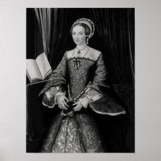 Portrait of Elizabeth I when Princess  c.1546 Poster