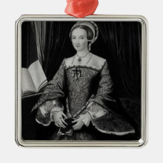 Portrait of Elizabeth I when Princess  c.1546 Silver-Colored Square Decoration