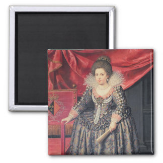 Portrait of Elizabeth of France (1602-44) daughter Square Magnet
