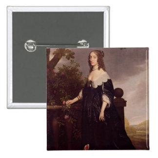 Portrait of Elizabeth, Queen of Bohemia 15 Cm Square Badge