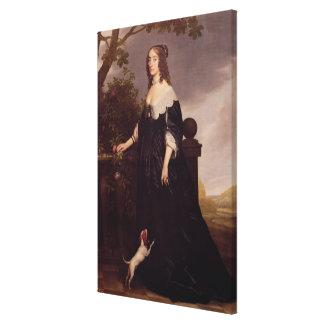 Portrait of Elizabeth, Queen of Bohemia Canvas Print
