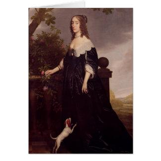 Portrait of Elizabeth, Queen of Bohemia Card