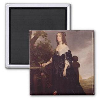 Portrait of Elizabeth, Queen of Bohemia Square Magnet