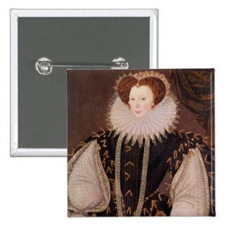 Portrait of Elizabeth Sydenham 15 Cm Square Badge