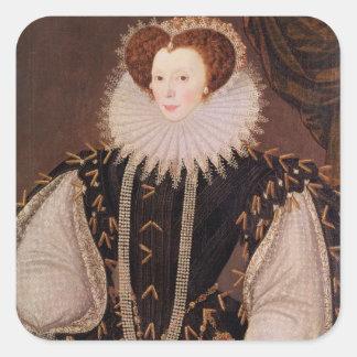 Portrait of Elizabeth Sydenham Square Sticker