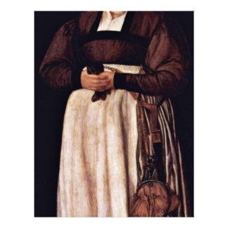 Portrait Of Elsbeth Lochmann Wife Of Jacob Schwytz Personalized Flyer
