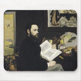 Portrait of Emile Zola  1868 Mouse Pad