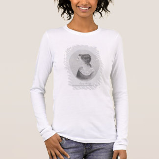 Portrait of Emily Bronte (1818-48) engraved by Wal Long Sleeve T-Shirt