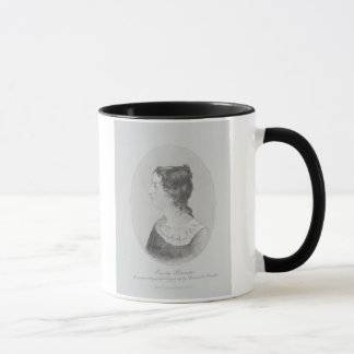 Portrait of Emily Bronte (1818-48) engraved by Wal Mug