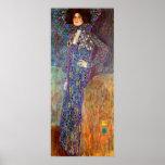 Portrait of Emily Floge by Gustav Klimt Poster