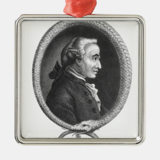 Portrait of Emmanuel Kant 2 Christmas Ornament