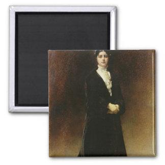 Portrait of Emmanuella Signatelli Square Magnet