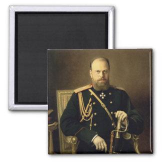 Portrait of Emperor Alexander III  1886 Square Magnet
