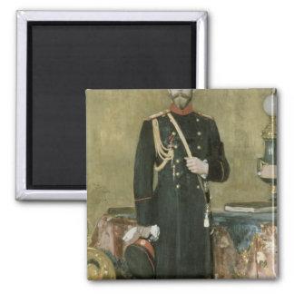 Portrait of Emperor Nicholas II  1895 Square Magnet