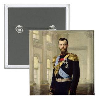 Portrait of Emperor Nicholas II, 1900 15 Cm Square Badge