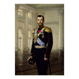Portrait of Emperor Nicholas II, 1900 Poster