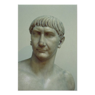 Portrait of Emperor Trajan Posters