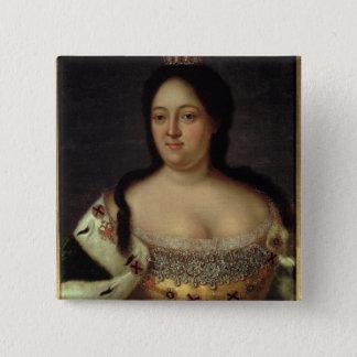 Portrait of Empress Anna Ioannovna 15 Cm Square Badge