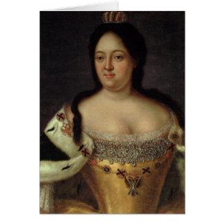 Portrait of Empress Anna Ioannovna Greeting Card