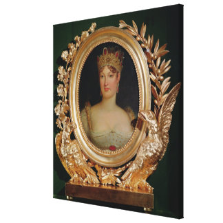 Portrait of Empress Marie-Louise  of Austria Canvas Print
