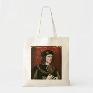 Portrait of English King Richard III Bags