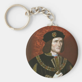Portrait of English King Richard III Basic Round Button Key Ring
