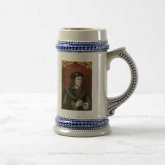 Portrait of English King Richard III Beer Stein