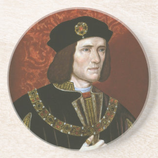Portrait of English King Richard III Beverage Coaster