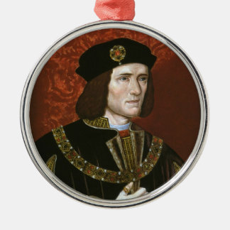 Portrait of English King Richard III Silver-Colored Round Decoration