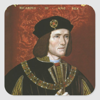 Portrait of English King Richard III Square Sticker