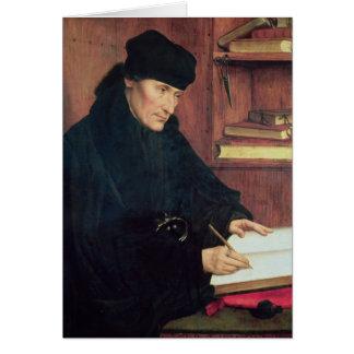 Portrait of Erasmus of Rotterdam Card