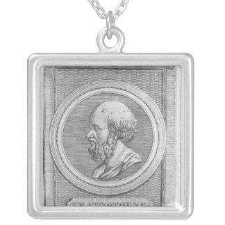 Portrait of Eratosthenes Silver Plated Necklace