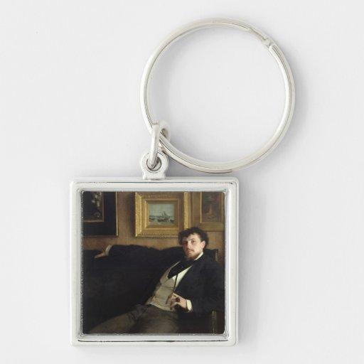 Portrait of Ernest Duez  1876 Key Chain