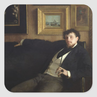 Portrait of Ernest Duez  1876 Square Sticker