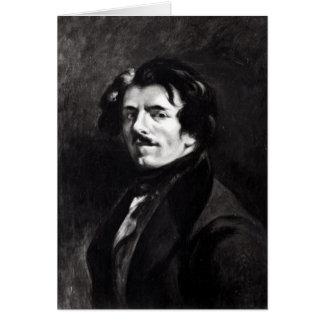 Portrait of Eugene Delacroix Card