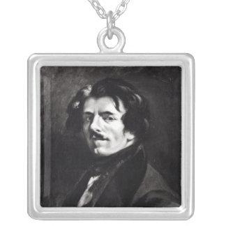 Portrait of Eugene Delacroix Silver Plated Necklace