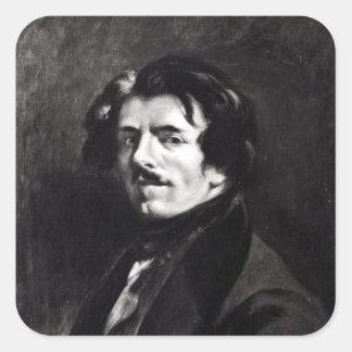Portrait of Eugene Delacroix Square Sticker