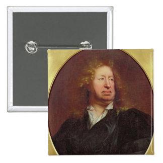 Portrait of Everhard Jabach  1688 15 Cm Square Badge
