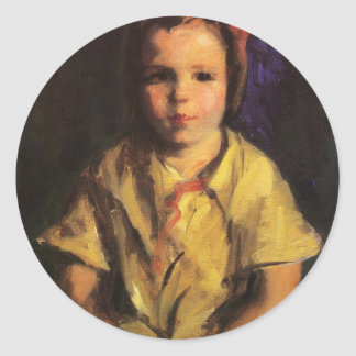 Portrait of Faith by Robert Henri Stickers