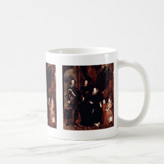 Portrait Of Family Lomellini By Dyck Anthonis Van Classic White Coffee Mug