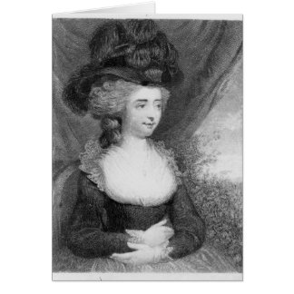 Portrait of Fanny Burney   pub. by Henry Greeting Card
