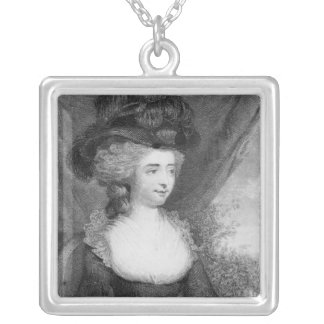 Portrait of Fanny Burney   pub. by Henry Silver Plated Necklace