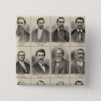 Portrait of Farmer Frank Meachum, Minnesota 15 Cm Square Badge